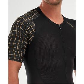 2XU Compression Full Zip Sleeved Trisuit Men black/gold